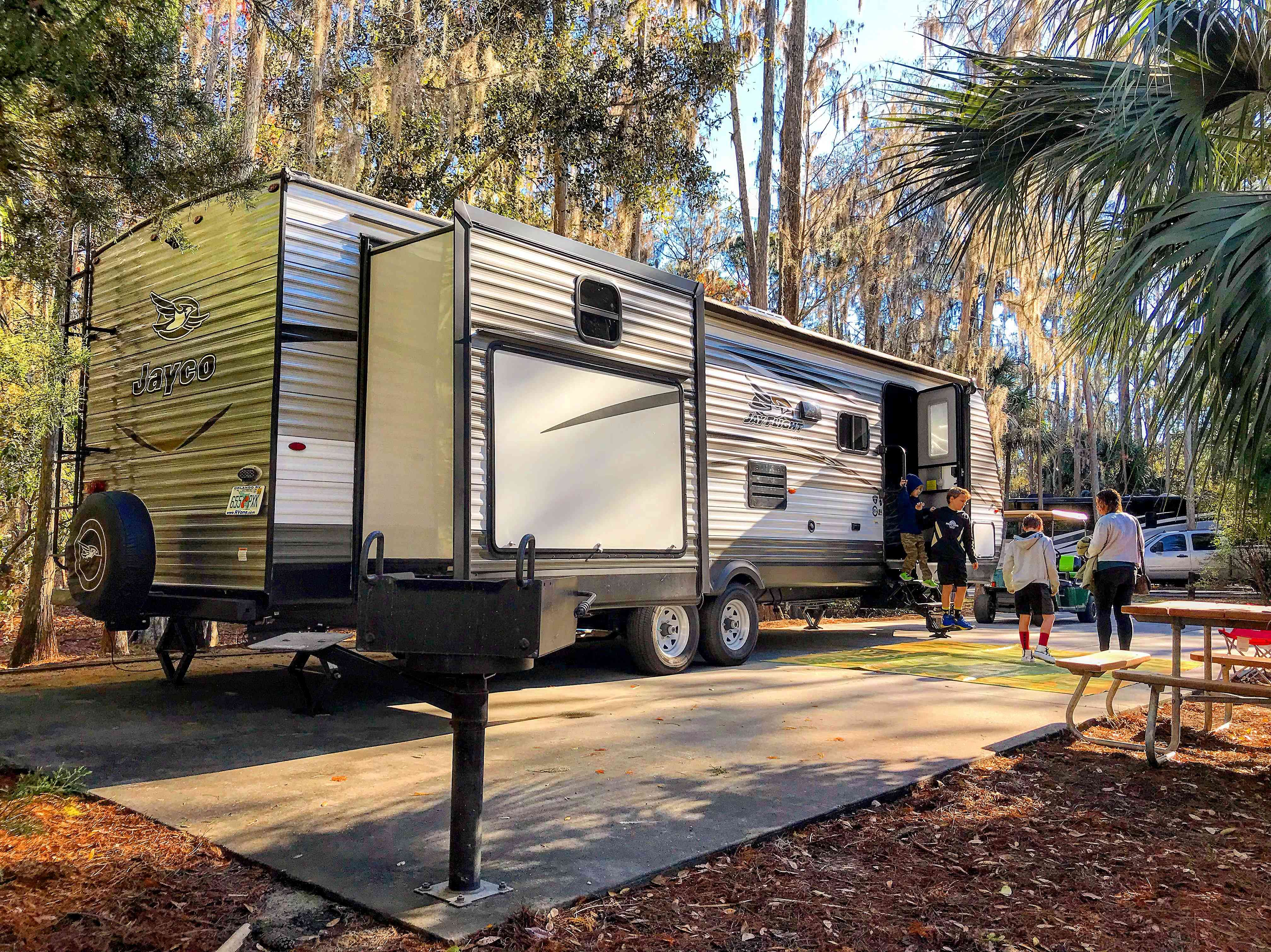 Travel Trailer at campground