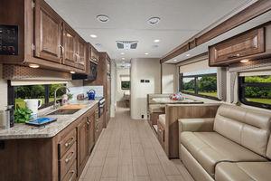 Class C Motorhome Living Area