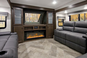 5th Wheel Trailer Raised Living Room