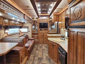 Horse trailer living area